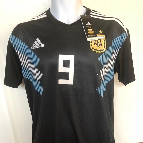 24e86101ae04 Argentina World Cup Away Jersey Kun Agüero